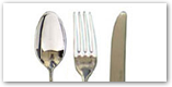 Image Of a Spoon, Fork And Knife