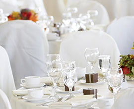 Image of a table set up for a wedding.